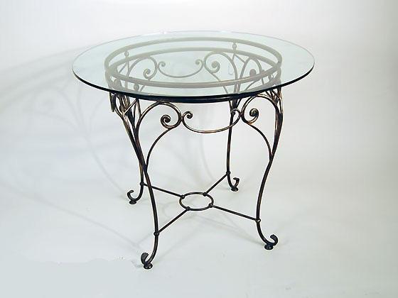 Круглый стол из металла своими руками 80
